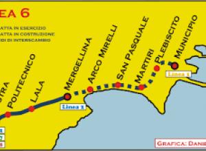 Linea 6 della metropolitana di Napoli: tratta funzionale Mergellina - Municipio
