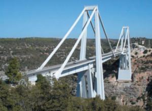 Manutenzione del ponte Wady Kouf  in Al Beida